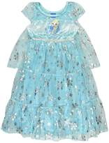 Disney Princess Frozen Elsa Girls Fantasy Gown Nightgown