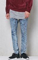 PacSun Drop Skinny Brite Indigo Flex Stretch Jogger Pants