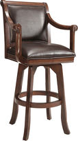 Hillsdale Carson Bonded Leather Swivel Barstool