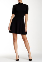 Alexia Admor Mock Neck Flare Dress
