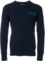 Kenzo logo embroidered rib detail sweater
