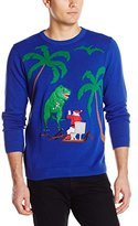 Alex Stevens Men's Santa Toilet T-Rex Attack Ugly Christmas Sweater