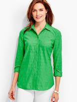 Talbots Floral-Embroidered Shirt