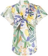 La DoubleJ Lou Lou botanical print shirt