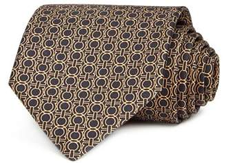 Salvatore Ferragamo Icona Gancini Classic Silk Tie