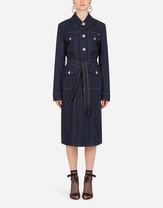 Dolce & Gabbana Denim Trench Jacket