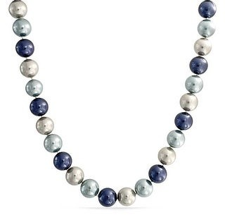 Bling Jewelry Imitation Pearl Purple Strand Necklace Silver Plated Clasp 10MM