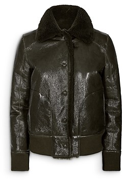 Remain Perla Cropped Shearling Lined Jacket