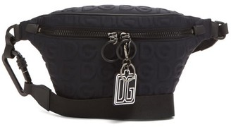 Dolce & Gabbana embossed Neoprene Belt Bag - Black