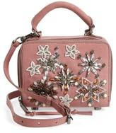 Rebecca Minkoff Embellished Box Leather Crossbody Bag - Pink