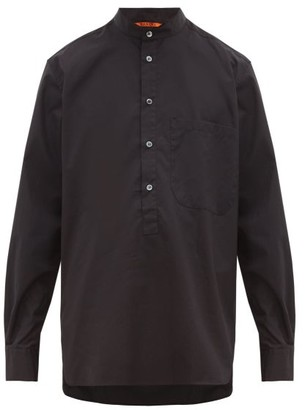 Barena Venezia - Cioapa Oversized Cotton Henley Shirt - Mens - Black