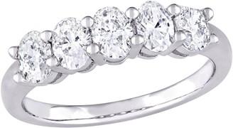 Affinity Diamond Jewelry Affinity 14K 1.00 cttw Oval-cut Diamond 5-StoneBand Ring
