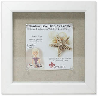 "Lawrence Frames White Shadow Box Frame - Linen Inner Display Board - 8"" x 8"""