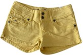 Tommy Hilfiger Yellow Cotton - elasthane Shorts for Women