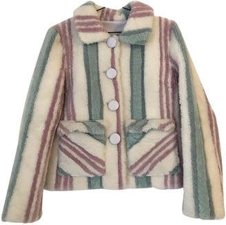 Saks Potts Multicolour Shearling Jacket for Women