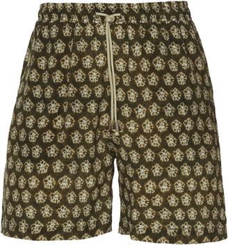 Nanushka Printed Cupro Shorts