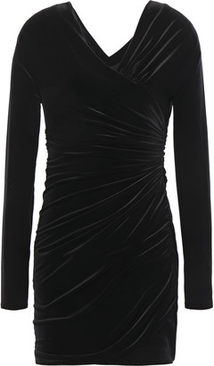 Alexandre Vauthier Ruched Velvet Mini Dress