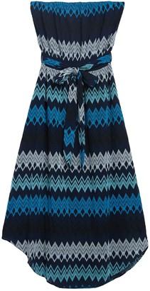 Ramy Brook Sylvia Chevron Stripe Strapless Midi Dress