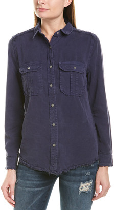 Etienne Marcel Frayed Denim Shirt