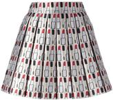 Alice + Olivia Alice+Olivia - makeup pattern pleated skirt - women - Polyester/Spandex/Elastane - 8