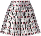 Alice + Olivia Alice+Olivia makeup pattern pleated skirt