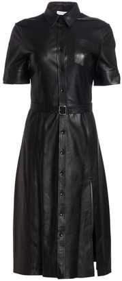 Altuzarra Kieran Leather Shirtdress