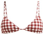 Belize - Chiara Gingham Triangle Bikini Top - Womens - Red White