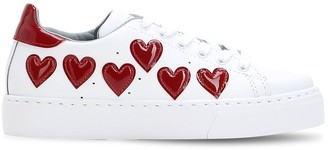 Chiara Ferragni Patent Hearts Leather Sneakers