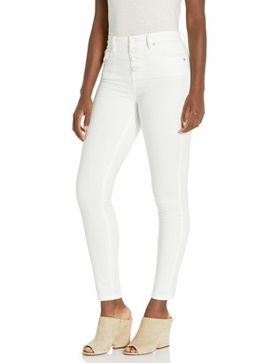 Blank NYC womens High Rise Five Pocket Stretch Skinny With Exposed Button Closure Jeans