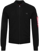 Alpha Industries X Fit Full Zip Sweatshirt Black
