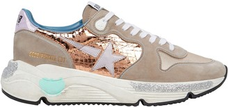 Golden Goose Running Sole Suede Sneakers