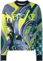Versace Energy Wave sweatshirt - women - Cotton - 40