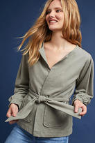 Anthropologie Pleated Tie-Front Cardigan