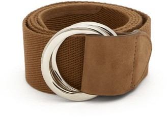 Brunello Cucinelli D-ring Woven Canvas Belt - Mens - Brown