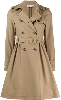 RED Valentino Storm Flap Midi Trench Coat