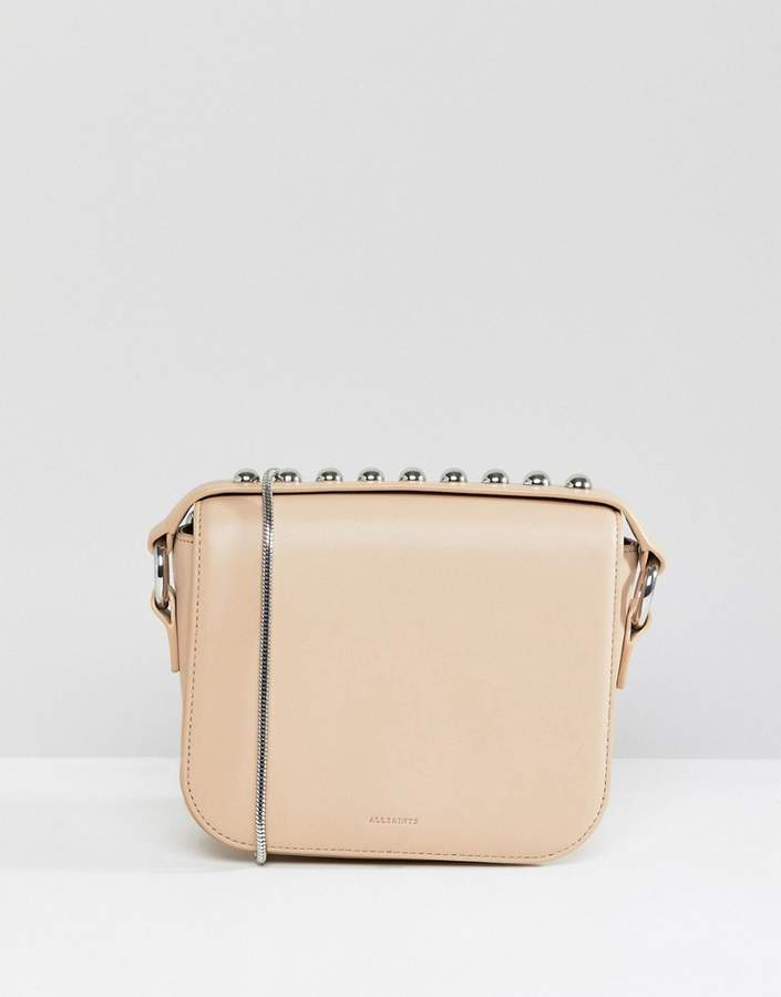 AllSaints Stud Chain Strap Bag