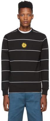 Noah NYC Black Stripe Flower Long Sleeve T-Shirt