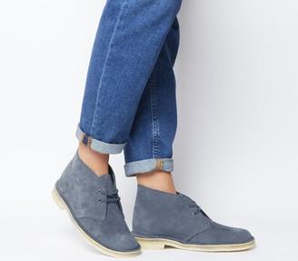 Clarks Desert Boots Deep Blue Suede