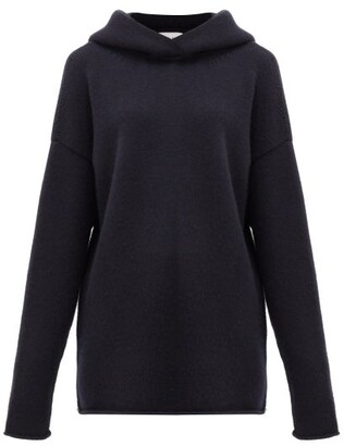 Raey Oversized Knitted Cashmere Hooded Sweatshirt - Navy