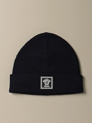 Versace Hat In Pure Wool With Medusa Head