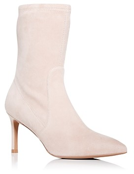 Stuart Weitzman Women's Wren Pointed Toe High Heel Booties