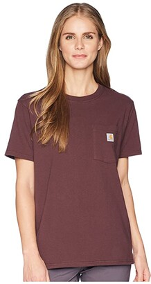 Carhartt WK87 Workwear Pocket Short Sleeve T-Shirt (Coral Haze Heather) Women's T Shirt