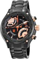 Timex TX Men's T3C163 650 Flyback Chrono Dual Time Dial Ion-Plated Stainless Steel Watch