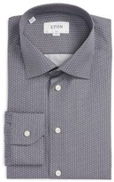 Eton Men's Slim Fit Print Dress Shirt