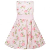 MonnaLisa MonnalisaGirls Pink Rose Print Dress