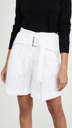 3.1 Phillip Lim Utility Belted High Waist Shorts