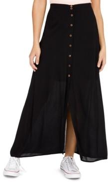 BeBop Juniors' Button-Front Maxi Skirt