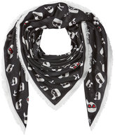 Karl Lagerfeld K/Ikonik Printed Scarf with Cashmere