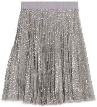 Ermanno Scervino Sequin Pleated Midi Skirt (6-16 Years)
