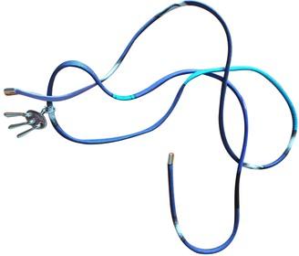 Hermes Blue Silk Bracelets